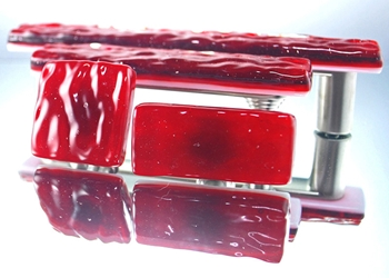 Ruby Handmade Glass Knob and Pull Cabinet Hardware