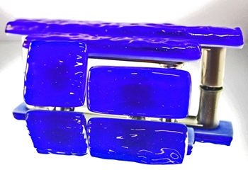 Sapphire Handmade Glass Knob and Pull Cabinet Hardware